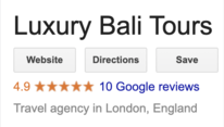 Luxury Bali Tours Google Review
